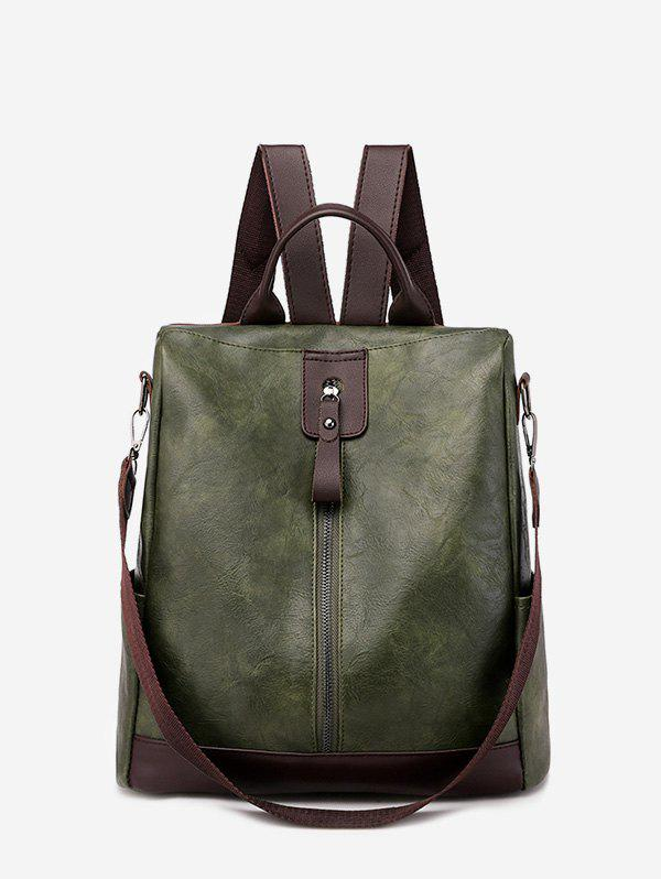 New Multi Handle PU Leather Casual Backpack