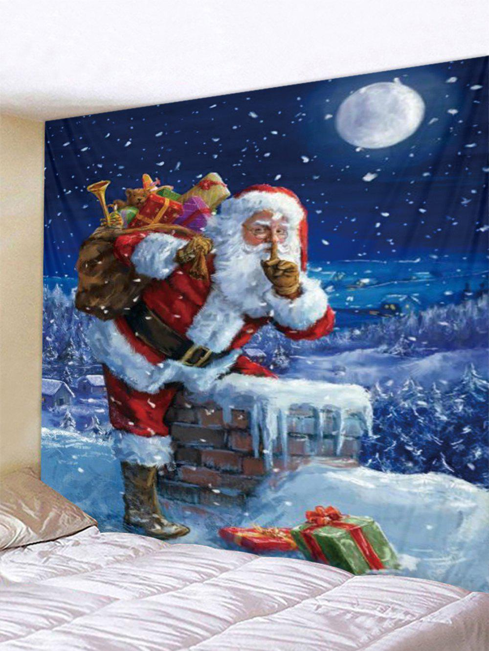 Trendy Christmas Gift Santa Claus Printed Tapestry