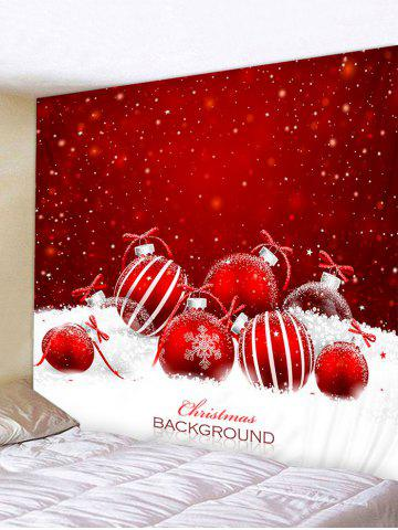 Christmas Ball Snowfield Print Tapestry Wall Hanging Art Decoration - from $21.49