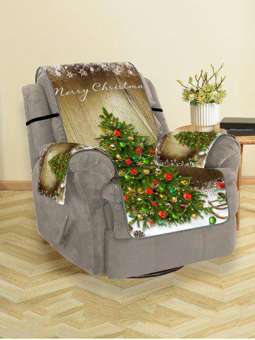 Merry Christmas Tree Couch Cover - FERN GREEN - SINGLE SEAT