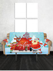 Noël Cartoon Père Cerfs Couch Couverture -