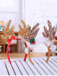 2 Pcs Christmas Sequined Antlers Shape Hair Bands -