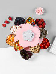 Flower Shape Rotating Snack Containers Candy Storage Box -