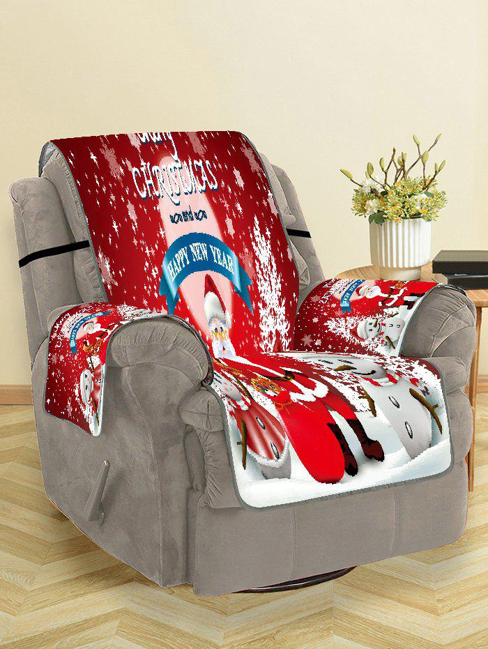 Fashion Merry Christmas Santa Claus Snowman Couch Cover