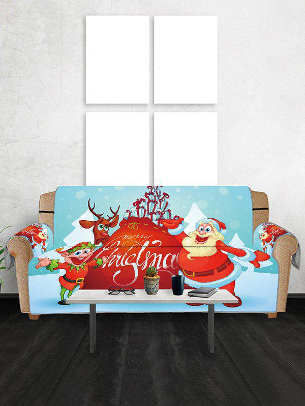 Noël Cartoon Père Cerfs Couch Couverture