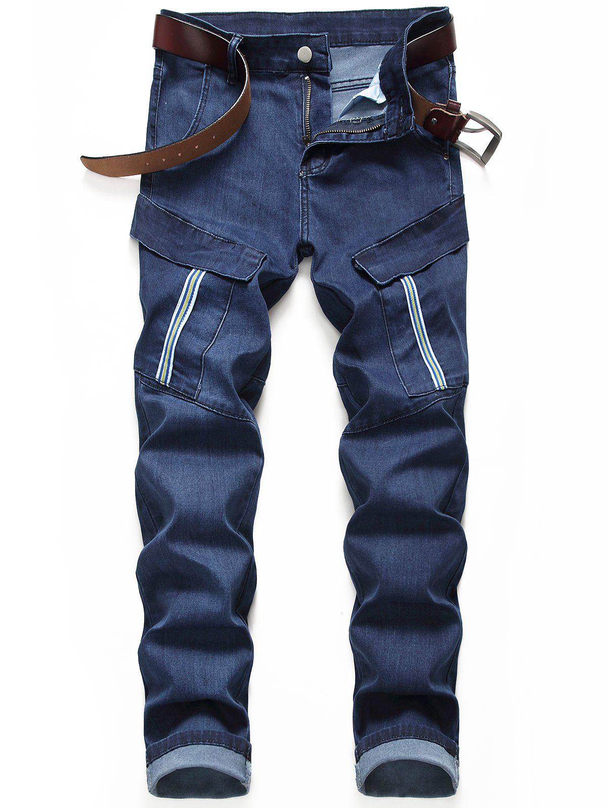 Best Pocket Decorated Zipper Fly Casual Jeans