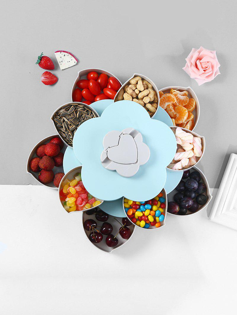 Affordable Flower Shape Rotating Snack Containers Candy Storage Box