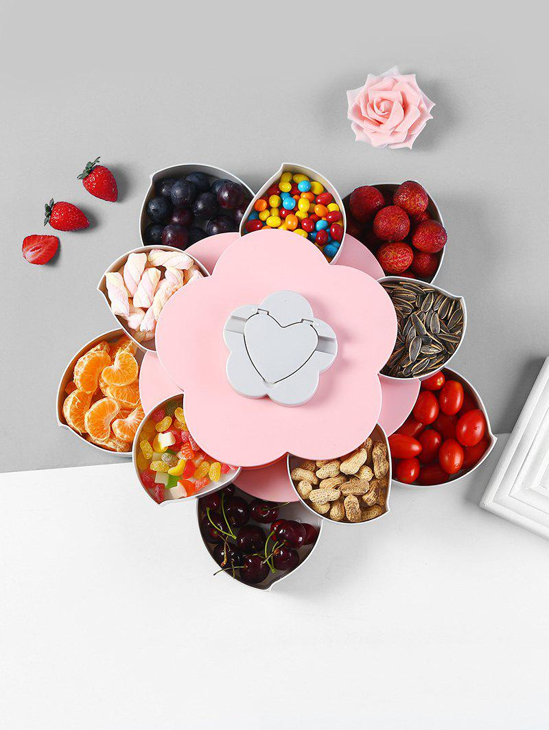 Trendy Flower Shape Rotating Snack Containers Candy Storage Box