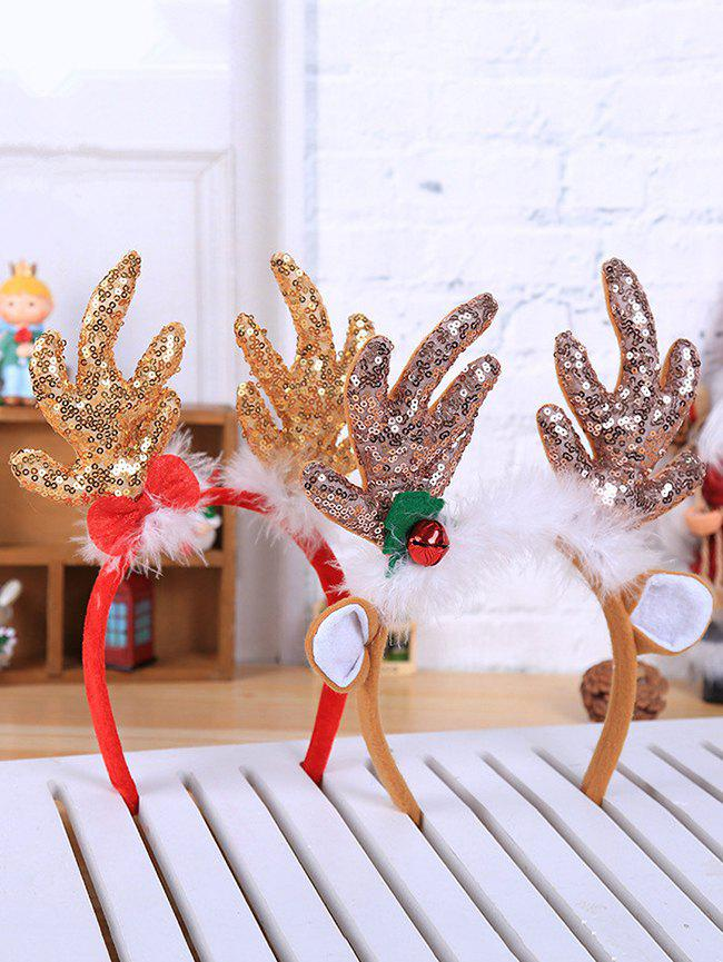 Store 2 Pcs Christmas Sequined Antlers Shape Hair Bands