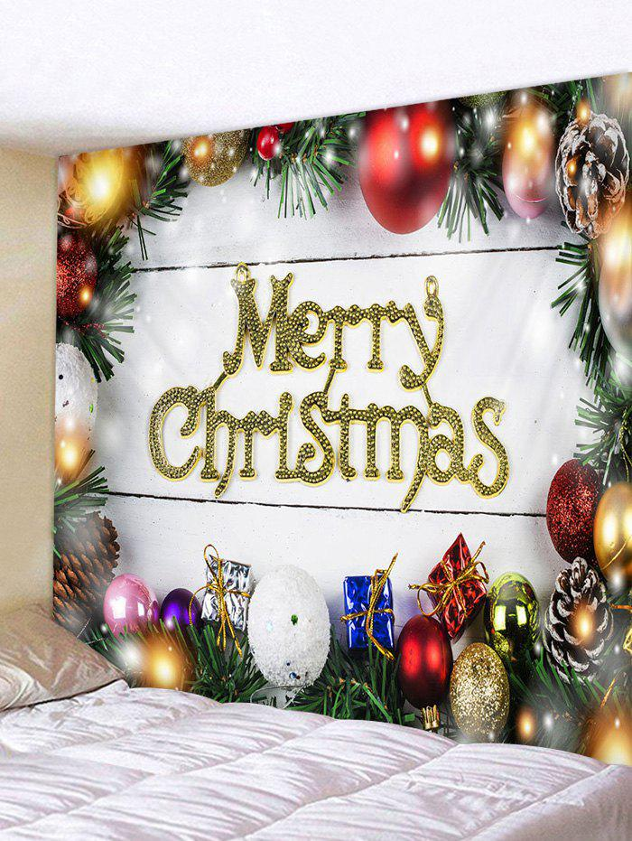 Merry Christmas Balls Gifts Print Tapestry Wall Hanging Art Decoration 中性品牌