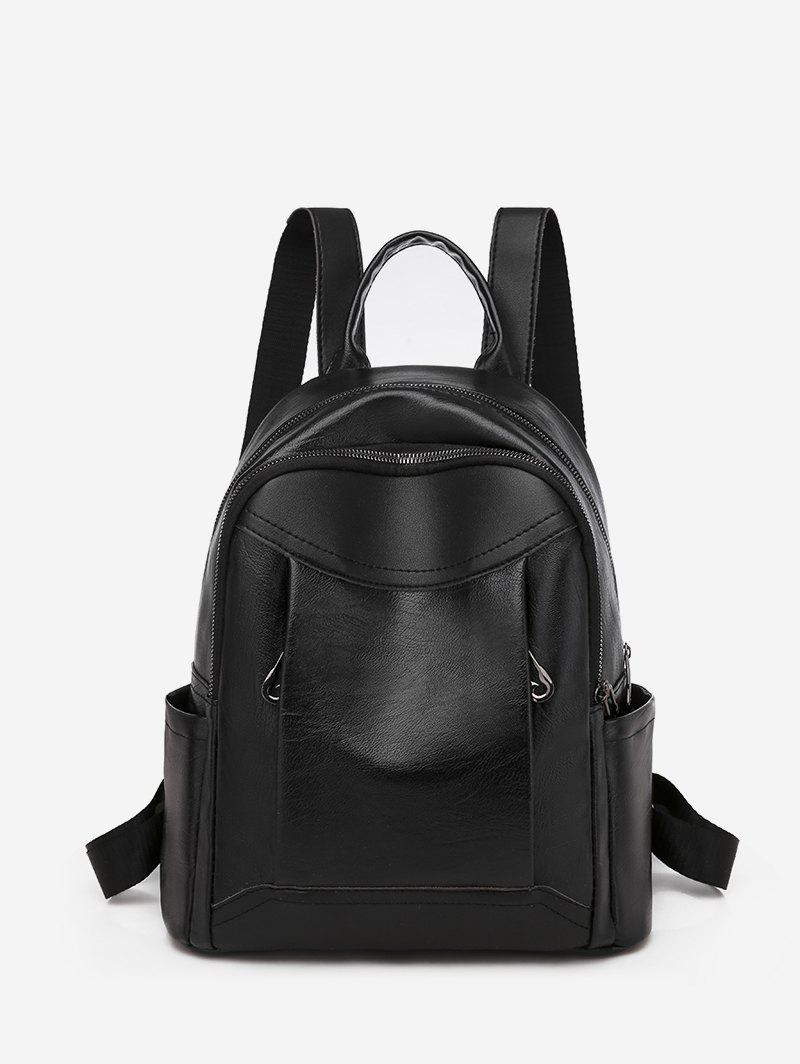 Chic Two Tone Casual PU Leather Backpack