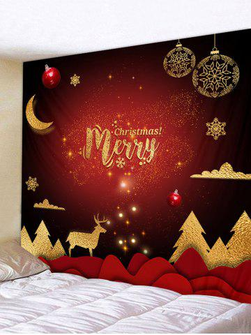 Christmas Tree Elk Greeting Print Tapestry Wall Hanging Art Decoration - from $8.36