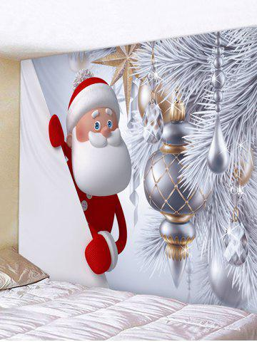Christmas Santa Claus Tree Decoration Print Tapestry Wall Hanging Art - from $19.80