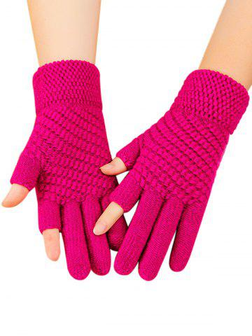 Solid Simple Thick Winter Study Gloves