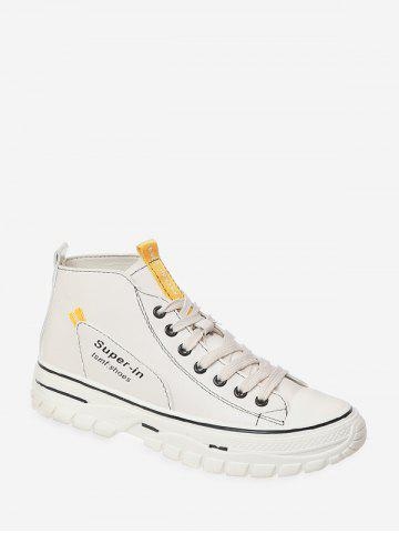 Casual Lace Up High Top Shoes