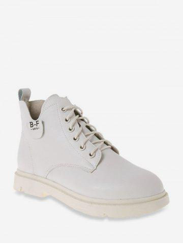 Round Toe PU Leather Cargo Boots