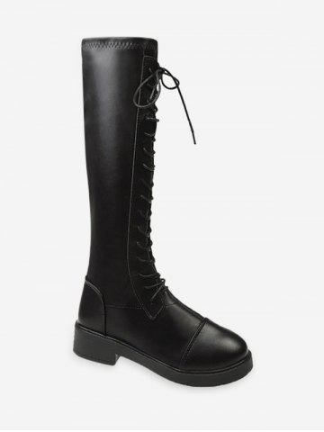 Lace Up Knight Knee High Boots