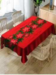 Merry Christmas Happy New Year Table Cloth -