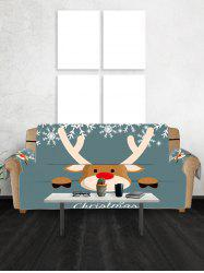 Christmas Deer Snowflake Couch Cover -