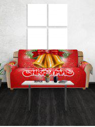Merry Christmas Bell Couch Cover -