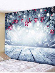 Christmas Stars Wooden Board Print Tapestry Wall Hanging Art Decoration -