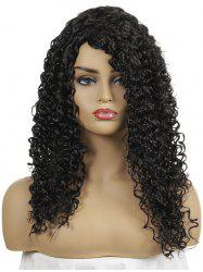 Side Fringe Long Curly Capless Synthetic Wig -