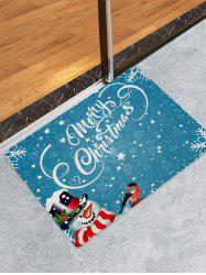 Christmas Snowman Greetings Pattern Water Absorption Area Rug -