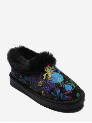 Tie Dye Sequined Snow Boots -