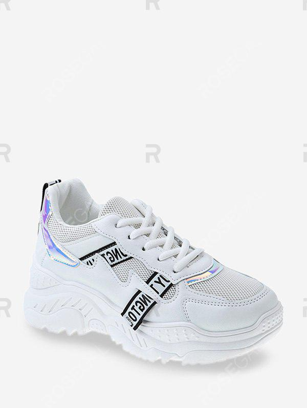 Fancy Laser Panel Breathable Dad Sneakers