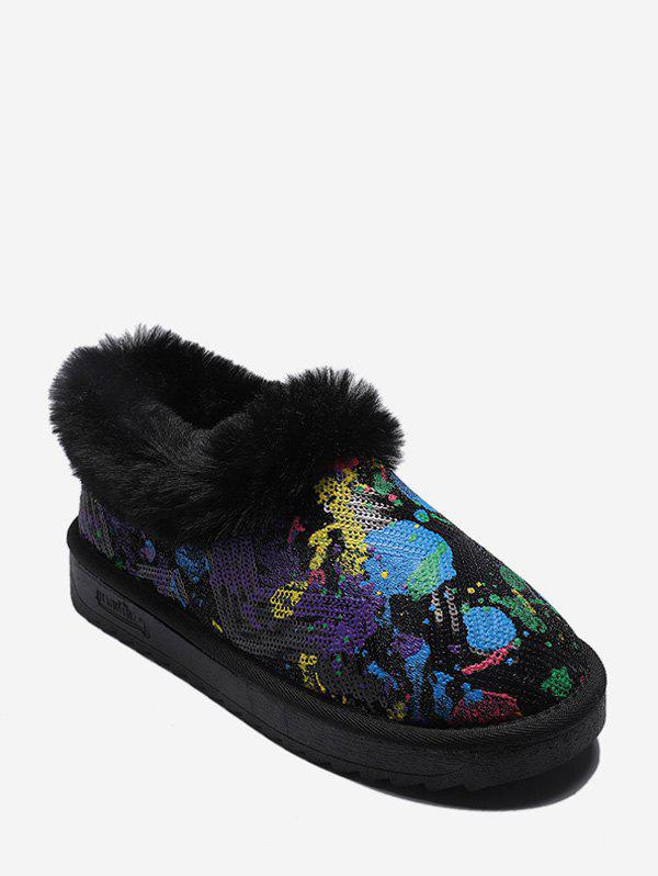 Outfits Tie Dye Sequined Snow Boots
