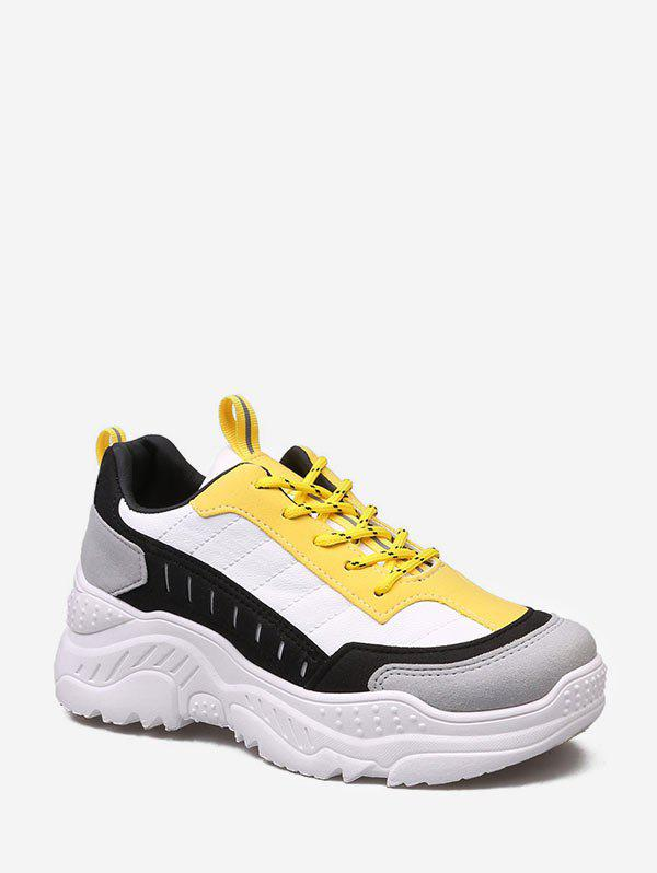Latest Color-blocking Comfortable Dad Sneakers