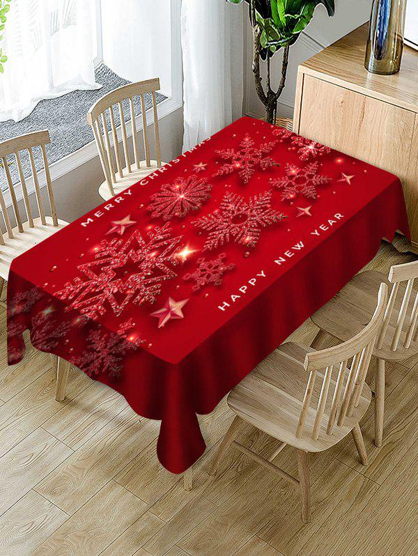 Chic Merry Christmas New Year Snowflake Table Cloth