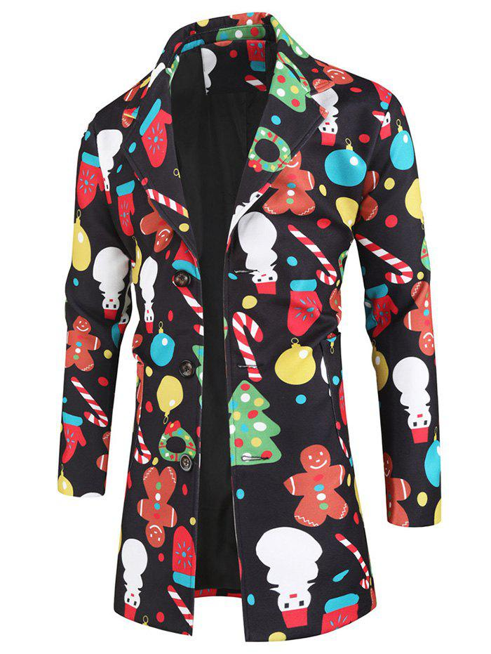 Affordable Christmas Snowman Cartoon Pattern Coat