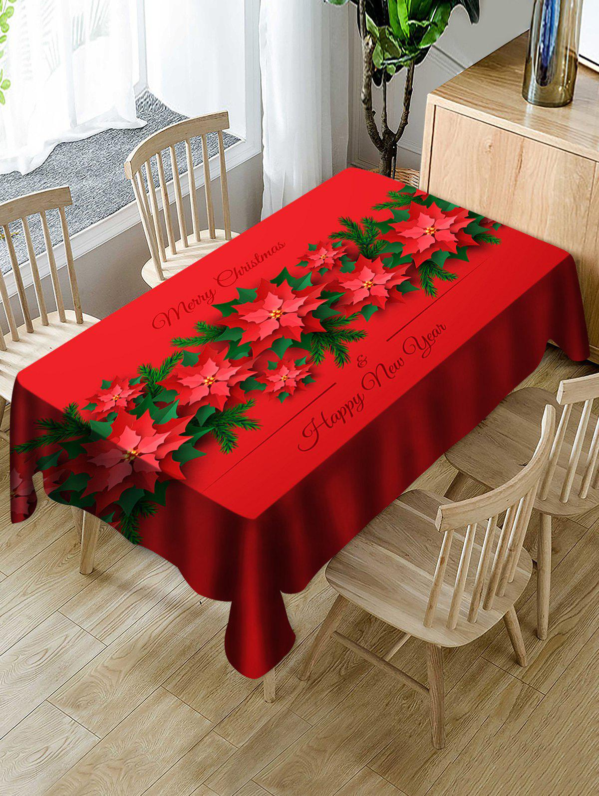 Shop Merry Christmas Happy New Year Table Cloth