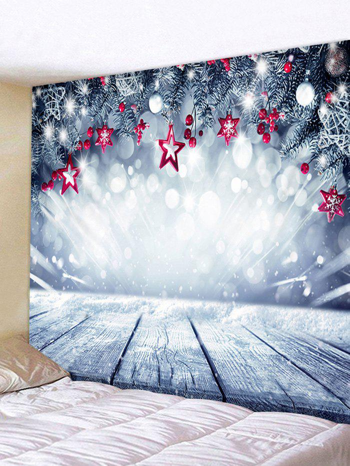 New Christmas Stars Wooden Board Print Tapestry Wall Hanging Art Decoration