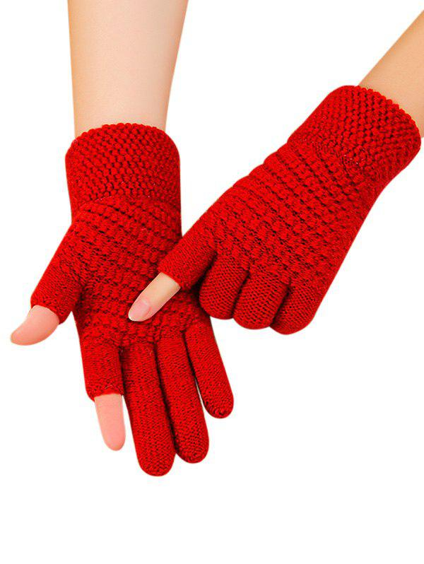 New Solid Simple Thick Winter Study Gloves
