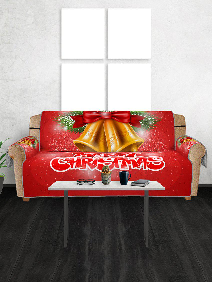 Fashion Merry Christmas Bell Couch Cover