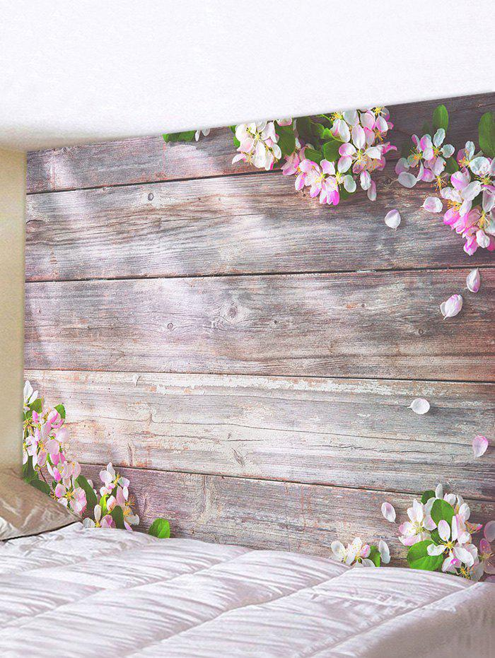 Discount Flowers Wooden Board Print Tapestry Wall Hanging Art Decoration
