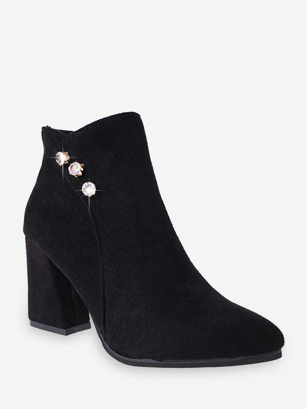 Outfits Rhinestone Beads Suede High Heel Boots