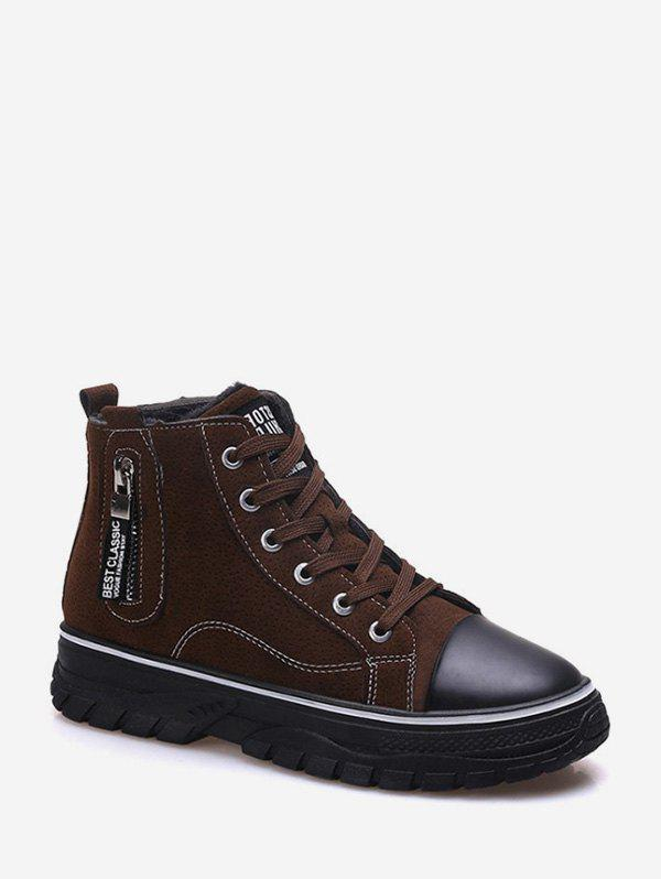Hot Zip Accent Platform Casual Ankle Boots