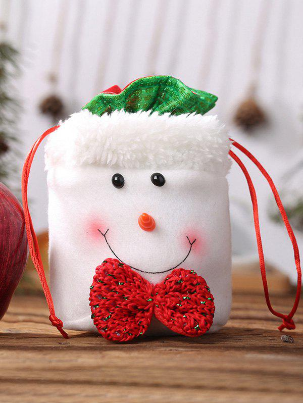 Image of Faux Fur Fluffy Christmas Drawstring Candy Bag