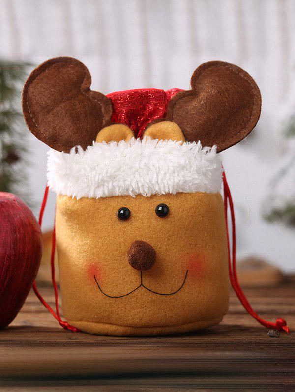 Store Faux Fur Fluffy Christmas Drawstring Candy Bag