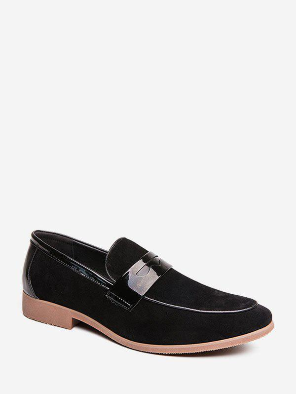 Shops PU Leather Trim Suede Slip On Work Shoes