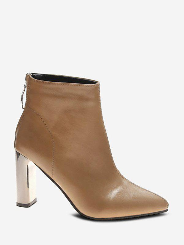 Outfit Simple Pointed Toe High Heeled Boots