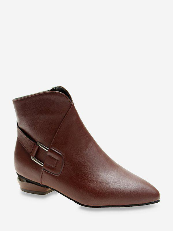 New V Notched Pointed Toe Ankle Boots