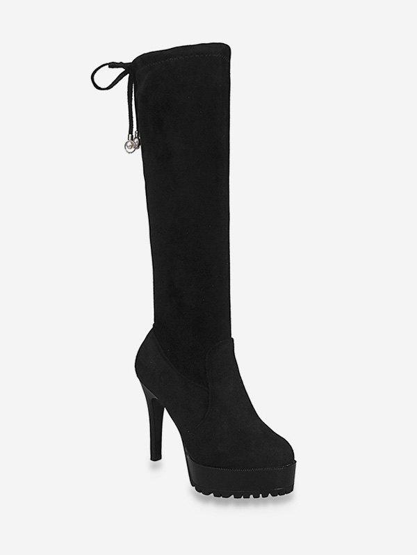 Cheap Stiletto Heel Platform Knee High Boots