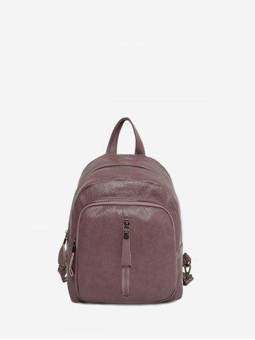 Solid Casual Travel Soft Leather Backpack