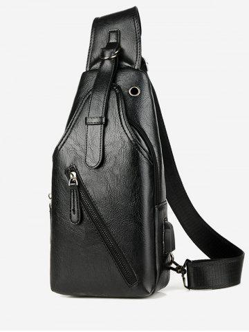 Casual Leather Crossbody Chest Bag