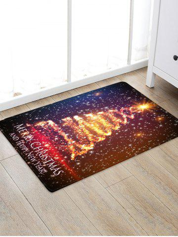 Merry Christmas Tree Floor Rug - MULTI - W24 X L35.5 INCH