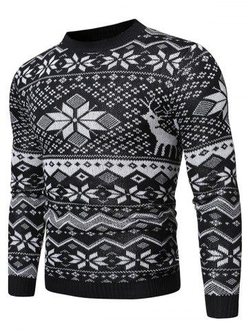 Christmas Snowflake Graphic Casual Sweater